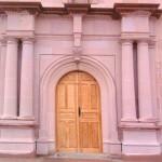 Fachada Iglesia en cantera rosa S.L.P.